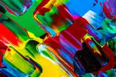 Ölgemäldeabstraktion, helle Farben Hintergrund Stockbilder