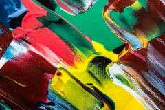 Ölgemäldeabstraktion, helle Farben Hintergrund Lizenzfreies Stockfoto