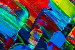 Ölgemäldeabstraktion, helle Farben Hintergrund Lizenzfreies Stockbild