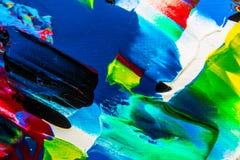 Ölgemäldeabstraktion, helle Farben Hintergrund Stockfotos