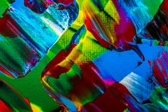 Ölgemäldeabstraktion, helle Farben Hintergrund Stockfoto