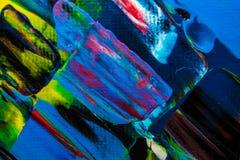 Ölgemäldeabstraktion, helle Farben Hintergrund Lizenzfreie Stockfotografie