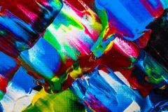 Ölgemäldeabstraktion, helle Farben Hintergrund Stockbild