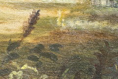 Ölgemäldefragment als Bild Lizenzfreies Stockbild