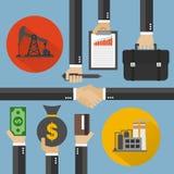 Ölgeschäfts-Konzeptdesign flach, Vektorillustration Lizenzfreie Stockfotografie