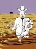 Öliger Schmieröl-Mann erklärt Offshoreschmieröl-Streuung Lizenzfreie Stockfotografie