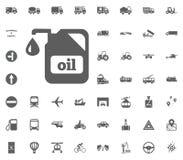 Ölikone Gesetzte Ikonen des Transportes und der Logistik Gesetzte Ikonen des Transportes Lizenzfreies Stockbild