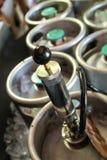 Ölkaggar för hem- brygd royaltyfri fotografi