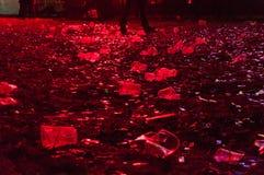 Ölkoppar efter konsert arkivfoton