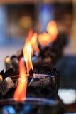 Öllampe der Gebete am Tempel Lizenzfreie Stockfotografie