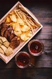 Ölmellanmål stångmat, bar, mest oktoberfest aptitretare royaltyfri fotografi