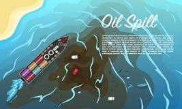Ölpest Verseuchter Strand in Chonburi, Thailand ökologisches Krisenfoto Ökologische Probleme schmutziges Ozean-Wasser Ruiniertes  lizenzfreie abbildung