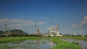 Ölpetrochemisches werk der Zeitspanne 4K stock footage