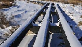 Ölpipeline Stockfotos