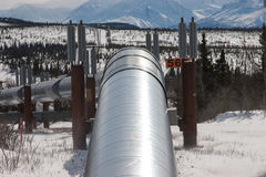 Ölpipeline in der Wildnis Lizenzfreies Stockfoto