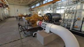 Ölpipeline in Russland stock footage
