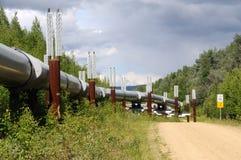 Ölpipeline Transport-Alaska Lizenzfreies Stockfoto