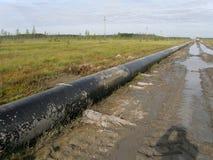 Ölpipelinetechnologie Stockbilder