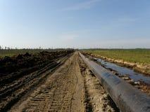 Ölpipelinetechnologie Stockfoto