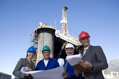 Ölplattform-Übersichtstechniktee Stockfotos