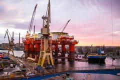 Ölplattform Stockfotografie
