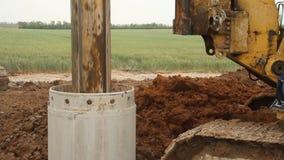 Ölplattform bohrt stock video