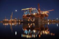 Ölplattform in den Yards Lizenzfreie Stockfotografie