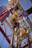 Ölplattform des Landes Stockbild