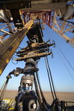 Ölplattform des Landes stockfotos