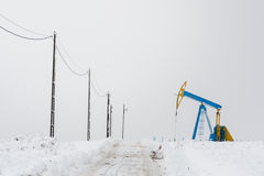 Ölplattformbohrung Stockfotografie