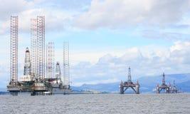 Ölplattformen in Meer Schottland Lizenzfreies Stockbild