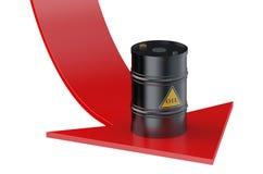 Ölpreis-Konzept lizenzfreie abbildung