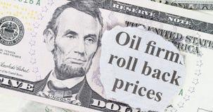Ölpreis-Preissenkung Stockfotografie