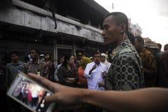 ÖLPREIS-SCHLAG-WIRTSCHAFT INDONESIENS GLOBALE Stockfoto