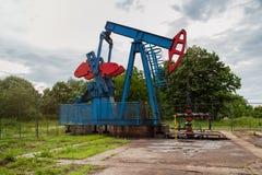 Ölpumpe in der niedrigeren Position Lizenzfreie Stockfotografie