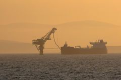 Ölpumpen des Öls Stockfotografie