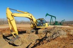 Ölquelle-Site-Arbeit lizenzfreie stockbilder