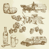 Ölsamling royaltyfri illustrationer