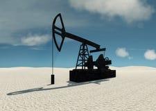 Ölschaukelstuhl in der Wüste Stockfotografie