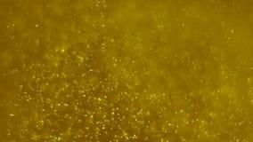 Ölskum Guld- dammbakgrund Guld- partiklar dammar av animeringbakgrund stock illustrationer