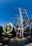 Ölstation stockbilder
