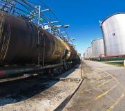 Ölstation stockfotos