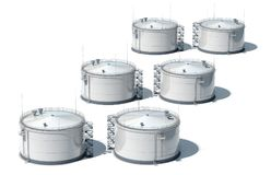 Öltank der Illustration 3d Getrennt Ansicht von oben stock abbildung