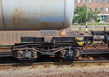 Öltank-Eisenbahnwagen Stockbild