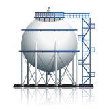 Öltankball mit Reflexion Lizenzfreie Stockfotos