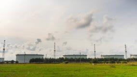 Öltanker, panoramisches Zeitversehen stock video footage