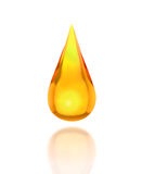 Öltropfen auf Weiß Lizenzfreie Stockfotos