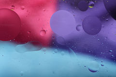 Öltropfen des Wassers Lizenzfreies Stockfoto