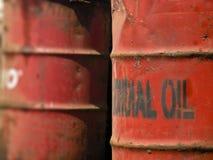 Ölzinnkanister Stockfotos