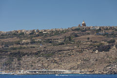 Ön av Gozo i Malta Arkivbilder